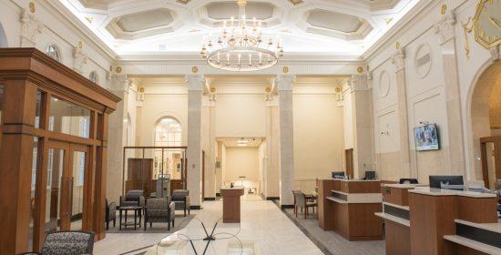 Modernizing a classic old bank branch.